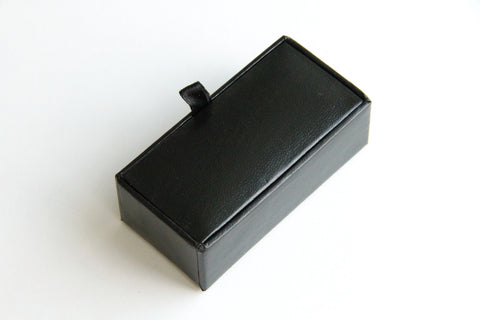 Cufflink Case - Leather Look, Black - KEY Handmade  - 1