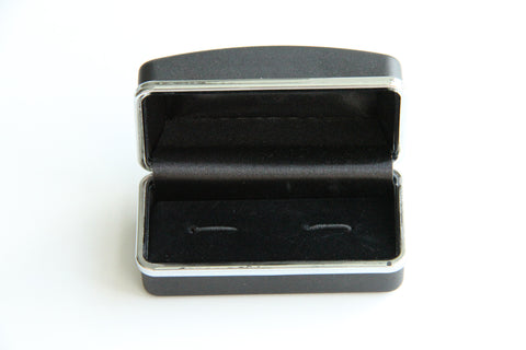 Cufflink Case - Rubber Feel, Black - KEY Handmade  - 1