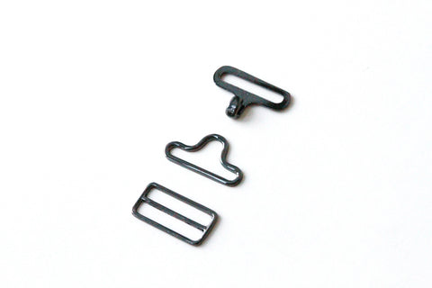 Bow Tie Hardware - 19mm, Metal, Slide Eye Hook - KEY Handmade  - 6