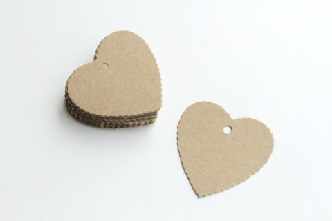 Paper Tag - Small Heart Shape - KEY Handmade  - 1