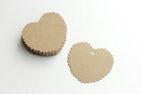 Paper Tag - Big Heart Shape - KEY Handmade  - 1