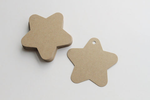 Paper Tag - Star Shape - KEY Handmade  - 1