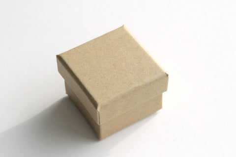 Kraft Box - Base and Lid, 4.3cm x 4.3cm x 3.8cm - KEY Handmade  - 1