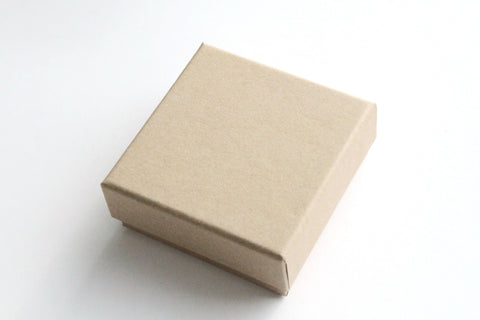 Kraft Box - Base and Lid, 7.3cm x 7.3cm x 3cm - KEY Handmade  - 1