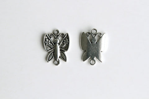Charm - Butterfly, Antique Silver - KEY Handmade  - 1