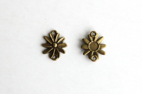 Connector - Sun Flower, Antique Brass - KEY Handmade  - 1