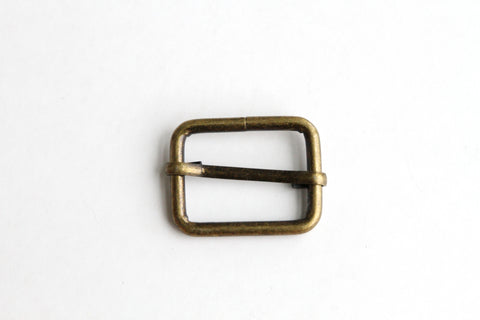 Rectangular Slider - 1 inch, One Movable Pin, Brass - KEY Handmade  - 1