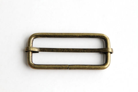 Rectangular Slider - 2 inch, One Movable Pin, Brass - KEY Handmade  - 1