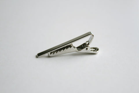 Tie Clip - 40 x 5 mm, Alligator Clip, Silver Color - KEY Handmade  - 1
