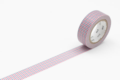 Masking Tape - mt DECO, Hougan • Dull Red x Dull Blue, 15mm x 10m - KEY Handmade  - 1
