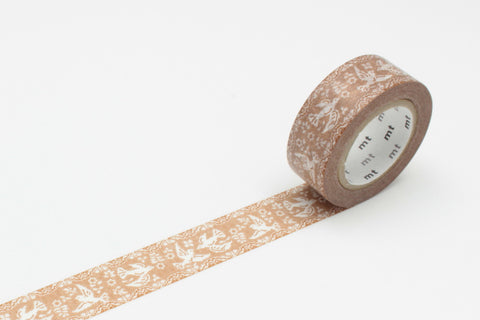 Masking Tape - mt ex, Lace・Bird, 18mm x 10m - KEY Handmade  - 1
