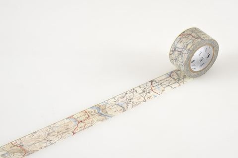 Masking Tape - mt ex, Map, 25mm x 10m - KEY Handmade  - 1