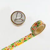 Masking Tape - ROUND TOP, Animal, 15mm x 10m - KEY Handmade  - 3