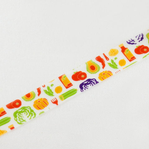 Masking Tape - ROUND TOP, Vegetables, 15mm x 10m - KEY Handmade  - 1