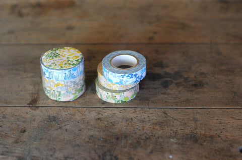 Masking Tape - Classiky, Little Garden, 15mm x 15m, Set of 3 Rolls - KEY Handmade  - 1