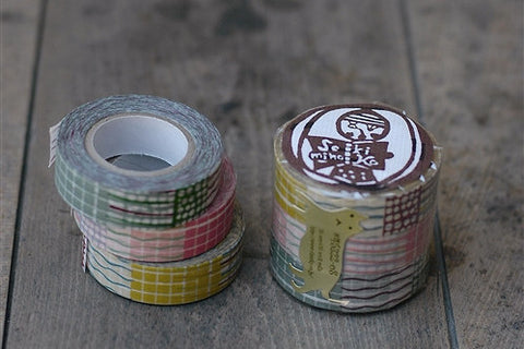 Masking Tape - Classiky, Textile, 15mm x 15m, Set of 3 Rolls - KEY Handmade  - 1