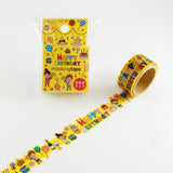 Masking Tape - ROUND TOP, Birthday 2, 20mm x 5m - KEY Handmade  - 2