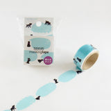 Masking Tape - ROUND TOP, Writing 6, 20mm x 5m - KEY Handmade  - 3
