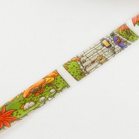 Masking Tape - ROUND TOP, Shrine in Autumn, 15mm x 10m - KEY Handmade  - 1