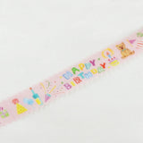 Masking Tape - ROUND TOP, Happy Birthday, 20mm x 5m - KEY Handmade  - 1
