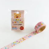 Masking Tape - ROUND TOP, Happy Birthday, 20mm x 5m - KEY Handmade  - 3