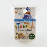 Masking Tape - ROUND TOP, Town, 20mm x 5m - KEY Handmade  - 2