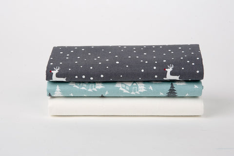 "Quarter Fabric Pack - Cotton, Dailylike ""Rudolph Town"" - KEY Handmade  - 1"