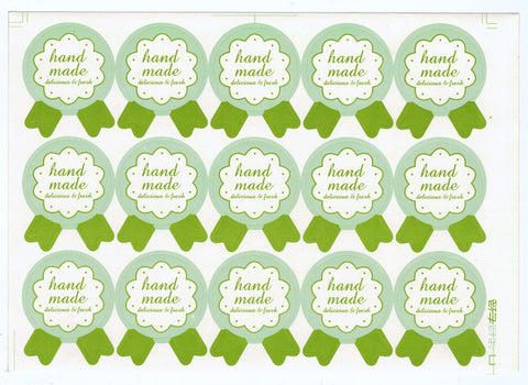 Sticker - Handmade Badge, Green - KEY Handmade  - 1