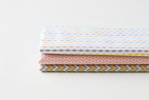 "Quarter Fabric Pack - Cotton, Dailylike ""Street"" - KEY Handmade  - 1"