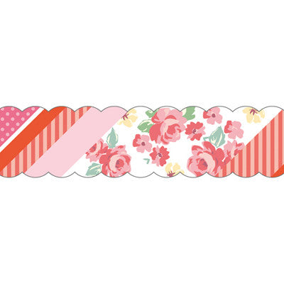 Masking Tape - PINE BOOK Nami-Nami Masking Tape, Collage Pink, 15mm x 10m - KEY Handmade