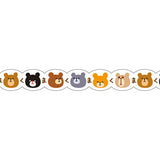 Masking Tape - PINE BOOK Nami-Nami Deco Masking Tape, Bear Face, 8mm x 8m - KEY Handmade  - 4