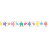 Masking Tape - PINE BOOK Nami-Nami Deco Masking Tape, Colorful Star, 8mm x 8m - KEY Handmade  - 4