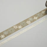 Masking Tape - ROUND TOP, Lace, 20 / 8mm x 4m - KEY Handmade  - 1