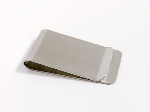 Money Clip - Stainless Steel, 26mm x 48mm - KEY Handmade  - 1