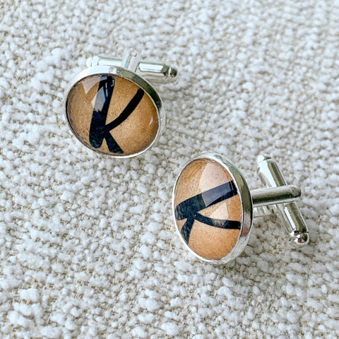 Custom made alphabet cufflink
