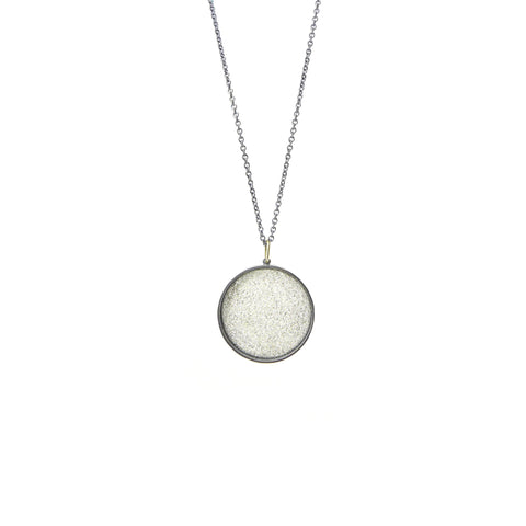medium white silk pendant