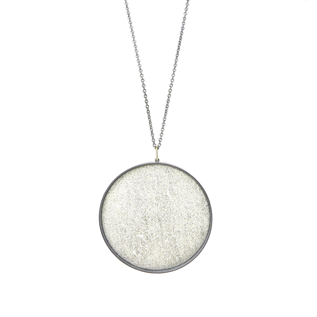 extra-large white silk pendant