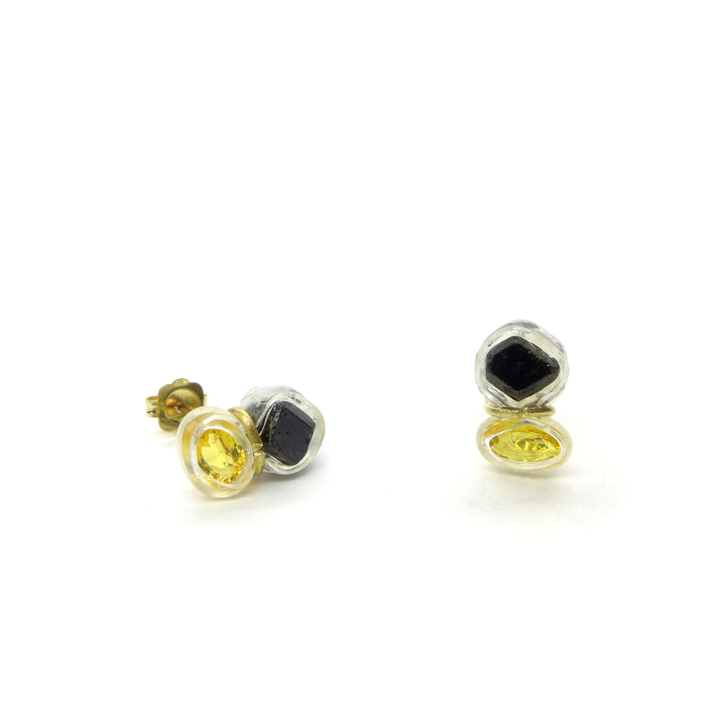 shape yellow halo sapphire double pear laurie earrings product designs studs sarah