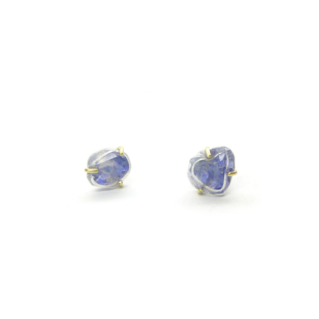 Chattham sapphire crystal stud earrings