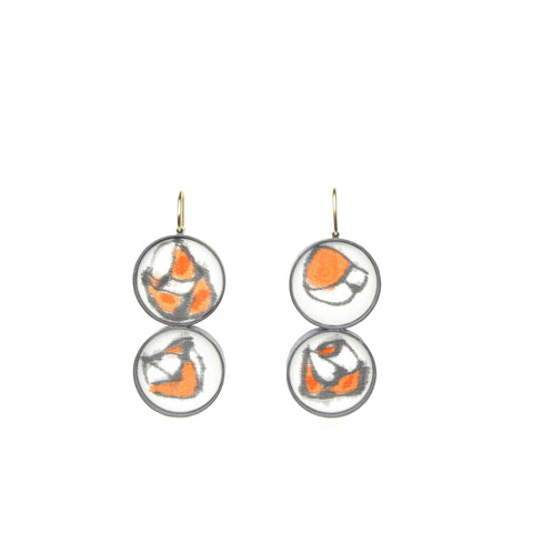 double medium drawing dangle earrings