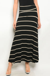 Briana Striped Maxi Skirt