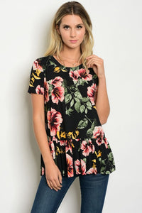 Camille Floral Ruffle Tunic
