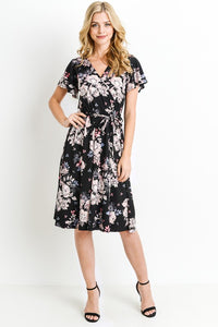 Ellie Floral Wrap Dress