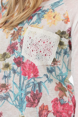 Floral Lace Pocket Tunic