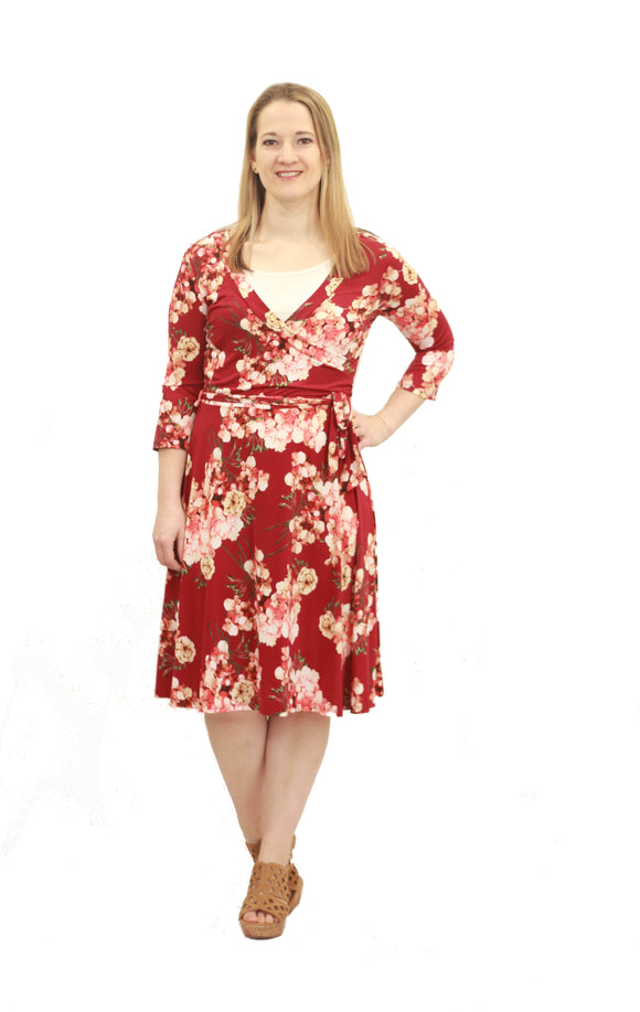 Hallie Floral Wrap Dress - Final Sale
