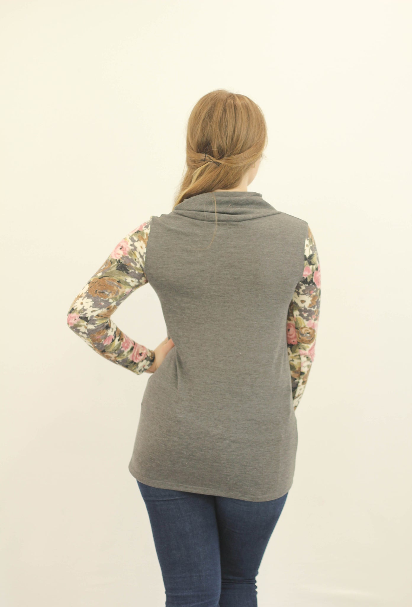 Floral Sleeve Sweater
