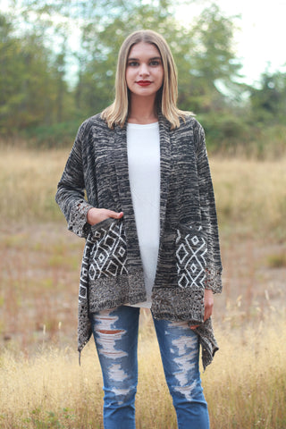 Tribal Knit Cardigan