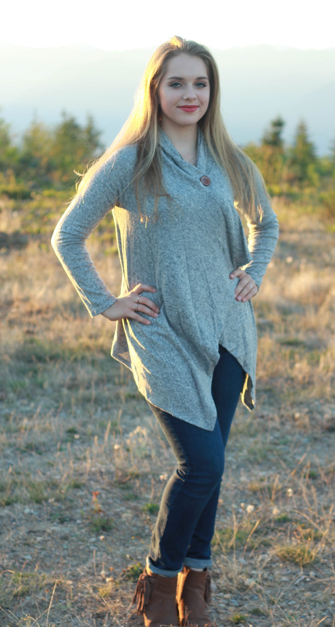 Luxe Button Cardigan