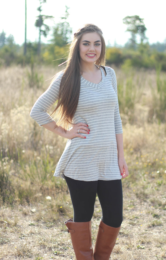 Striped Cutout Tunic