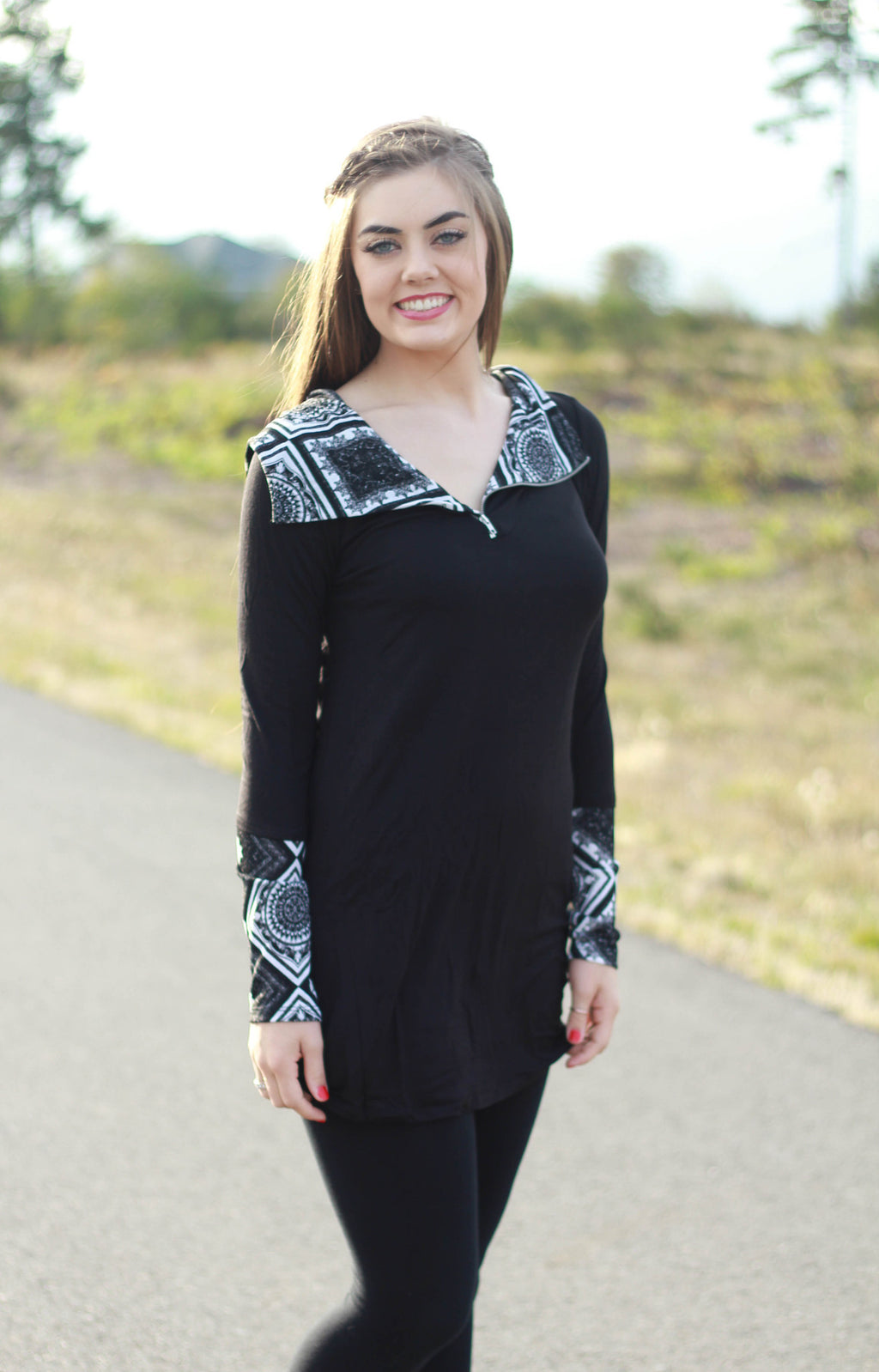 Naomi Hooded Tunic